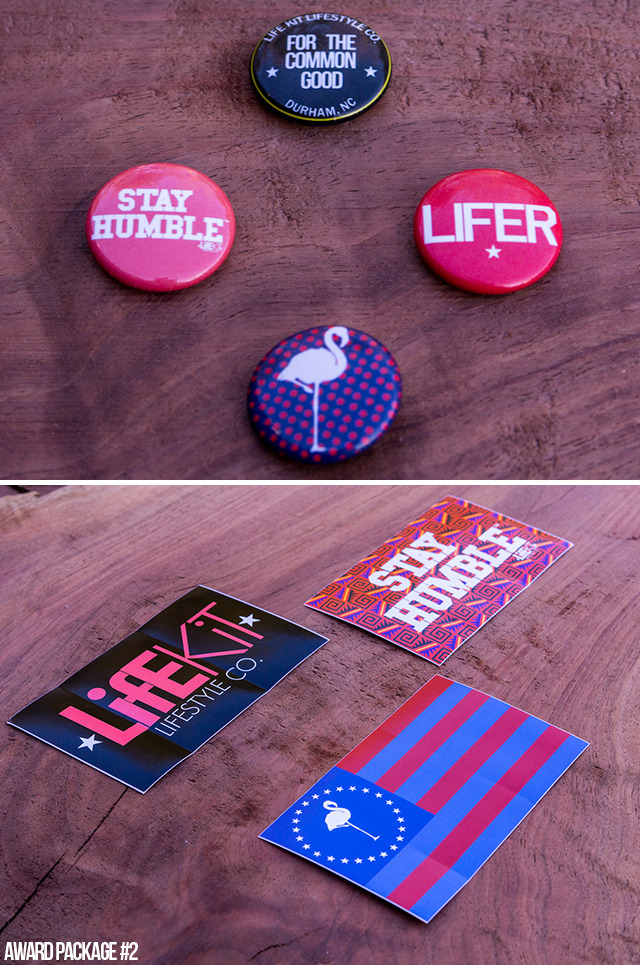 [$15 or More] Limited Edition Collection of LK Buttons & Stickers: Receive your very own KICKSTARTER EXCLUSIVE Collection of LifE KiT Lifestyle BUTTONS and STICKERS: (Perfect LK toppers for your favorite jean jacket, backpack, and laptop!)