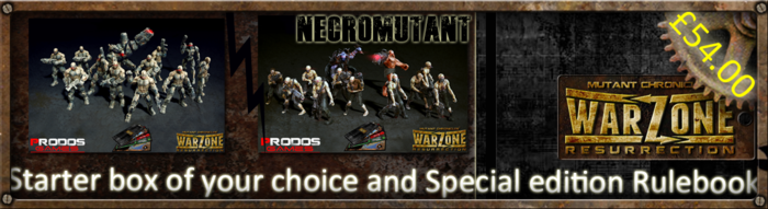 You can choose any starter set (options are Dark Legion, Cybertronic, The Brotherhood or MegaCorporation Bauhaus (or Capitol, if we get there)