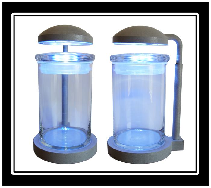 PJ reef Lamp and glass jar