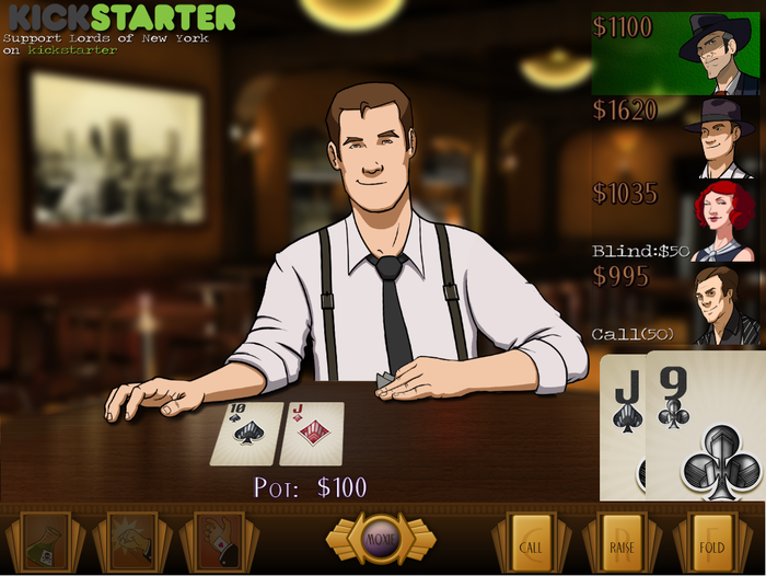 Poker Gameplay. NPCs animate and talk to you during the game. Still a work in progress.