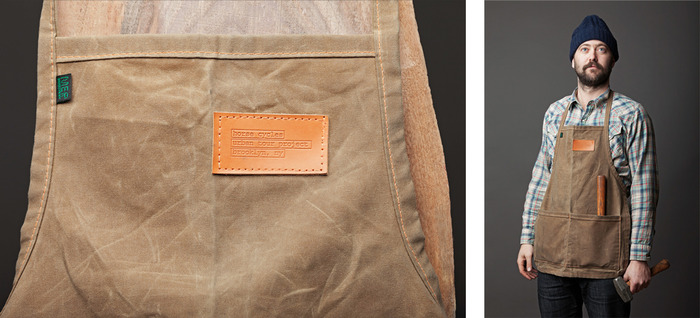 WAXED CANVAS SHOP APRON BY MER BAGS