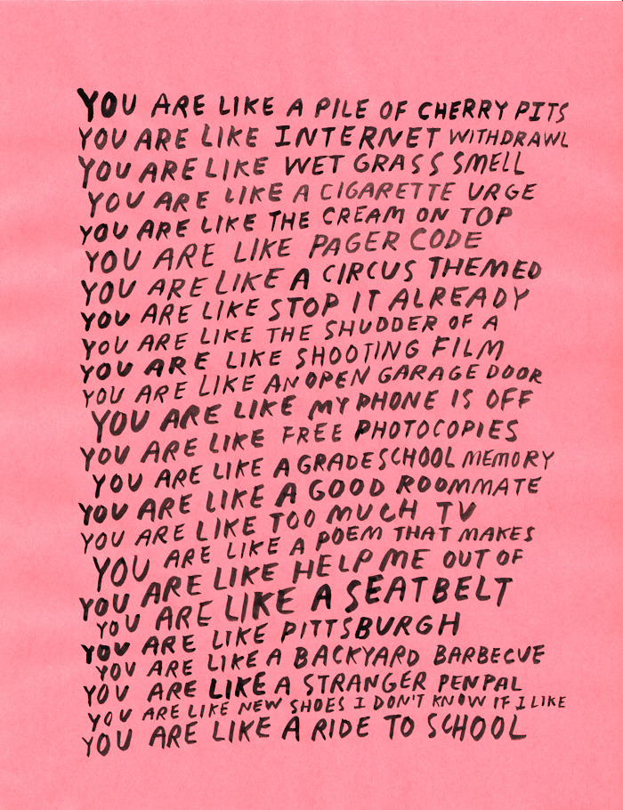 You Are Like... by Nicole Lavelle.