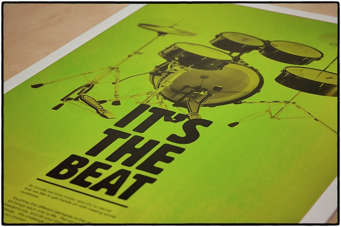 Exclusive signed Kickstarter limited edition Drum Poster