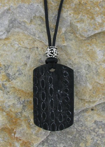 $25 or More-REWARD 9-Croc-Style Dog Tag (Reclaimed Horn-Limit 100)