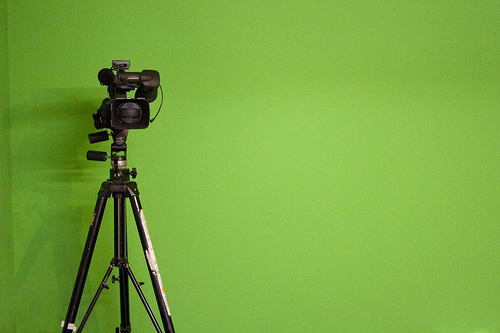 Green Screen & Camera. CCLicence ZapTheDingbat