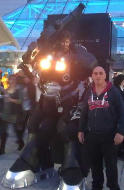 First attempt at the Jim Raynor Starcraft mech suit (i'm not the bald guy lol)