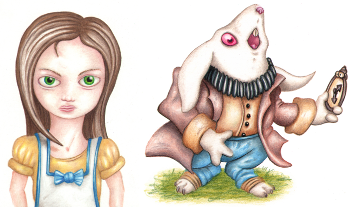 Second Art Preview - Alice and the White Rabbit by Andy Hopp