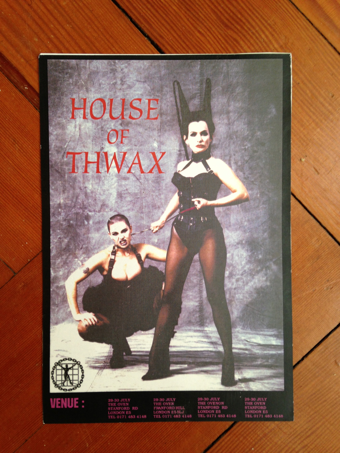 Original House of Thwax flyer