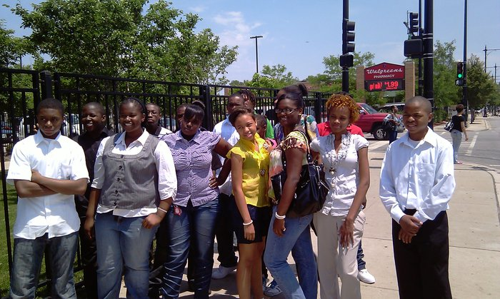 Youth from Teamwork Englewood's summer web & writing workshop. (2011)