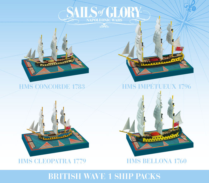 The four Ship Packs of the Royal Navy (see above for the KS-Exclusive packs)
