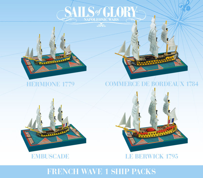 The four Ship Packs of the French Navy (see above for the KS-Exclusive packs)