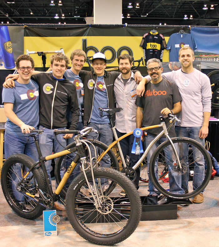 The Boo/Aluboo crew, 2013 North American Handmade Bike Show