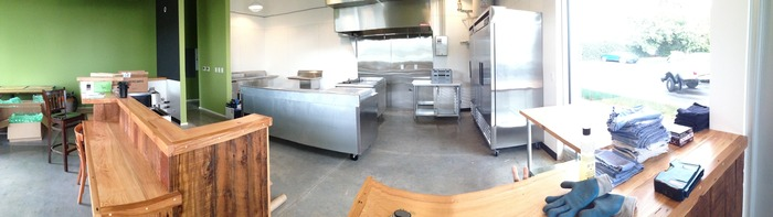 Sneak peak into the kitchen.