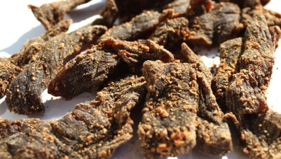 "Bacon Salt & Pepper: By using crushed bacon bits, this jerky brings a touch of bacon to beef jerky addicts. It's our take on the standard, old hat ""peppered"" jerky."