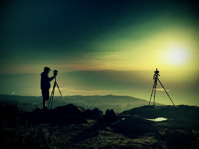 Time-lapsing the sun rising over the Rift Valley