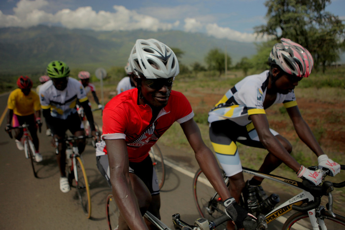The Kenyan Riders training in the Rift Valley