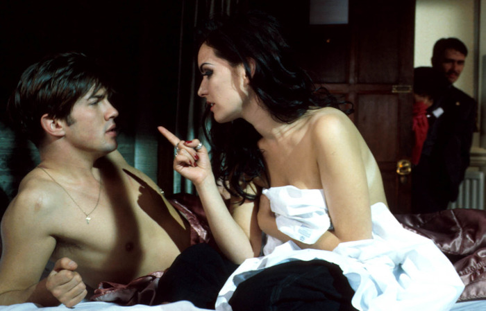 Tanya (Guinevere Turner) admonishes Peter (Christien Anholt) after vanilla lovemaking