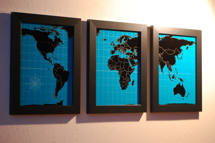 One full set of 9 x 12 inch Dream Series maps in your choice of black and white, black and red, or black and turquoise.