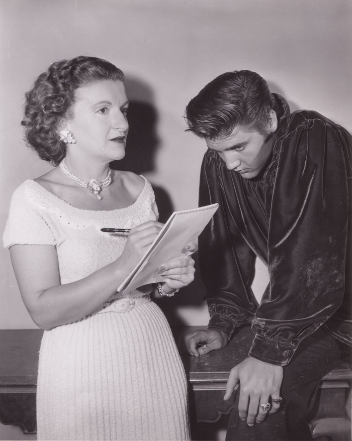 Trude Forsher with Elvis. 1956