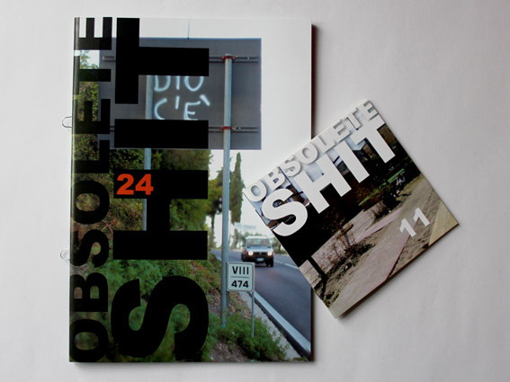Obsolete Shit. Issues 11 & 24 - an art magazine published randomly by Stefano W. Pasquini with random numbers since June 2008.