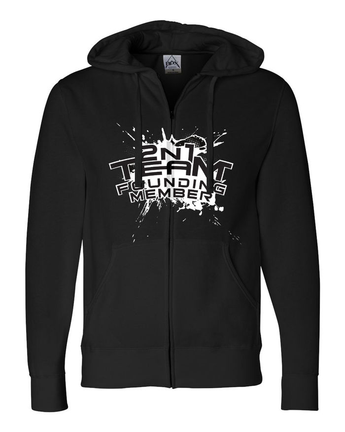 2N1Team Founding Member Hoodie mockup.  Design by Jay Williams