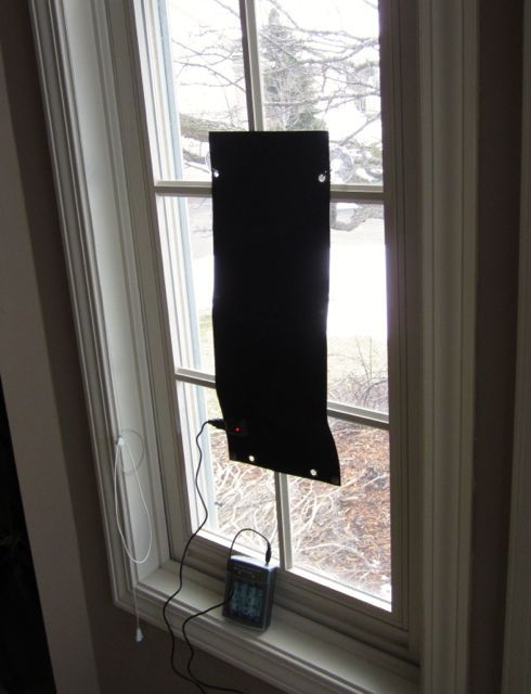 Charging AAs in a Window