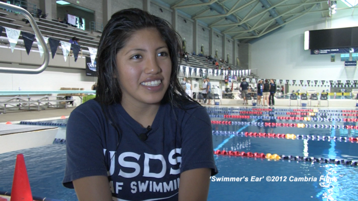 Jazmin talks about how she's improving her times to hopefully qualify for the 2013 Deaflympics swim team.