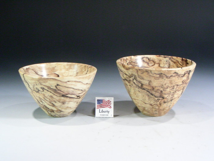 Level 1 is a spalted maple bowl.  The lines appear as the wood begins to decompose.  They may have some surface pecks as the hardness of the wood varies within the bowl.