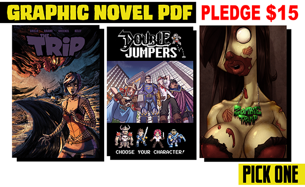 Or for $45 get all 3 books with the PDF graphic novels set!