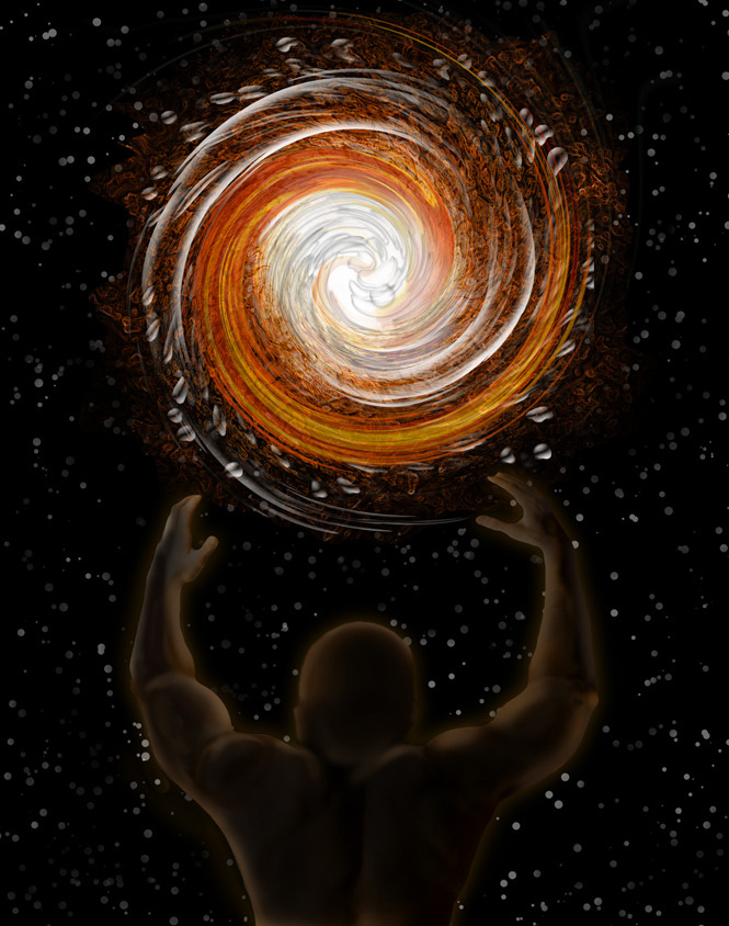 The Creation of the Universe, as told by Ovid. This is the first illustration; before Creation, there wasn't a lot going on.