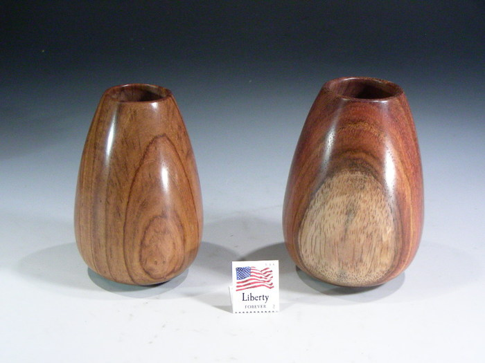 Rosewood hollow vase included in the level 7 and 8 sets.