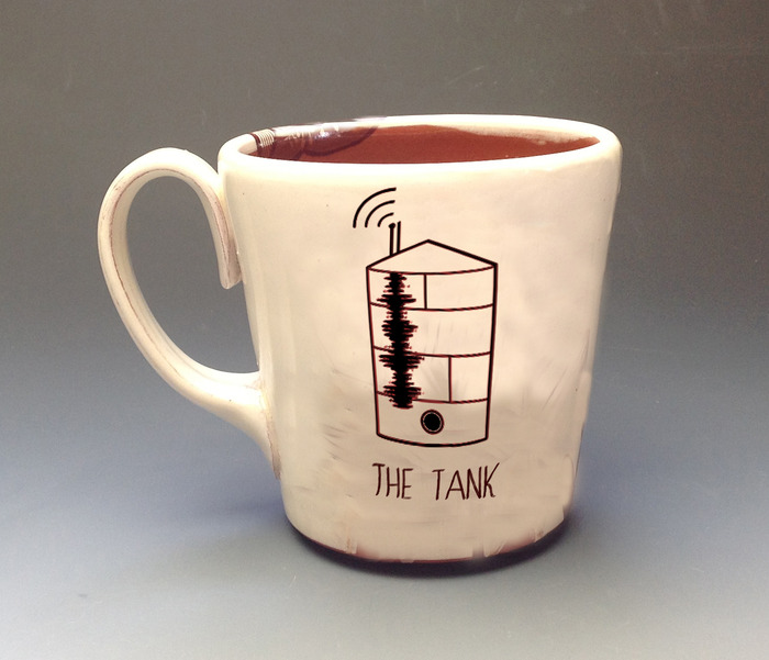 Handmade TANK mug by Elizabeth Robinson, Rangely CO native.