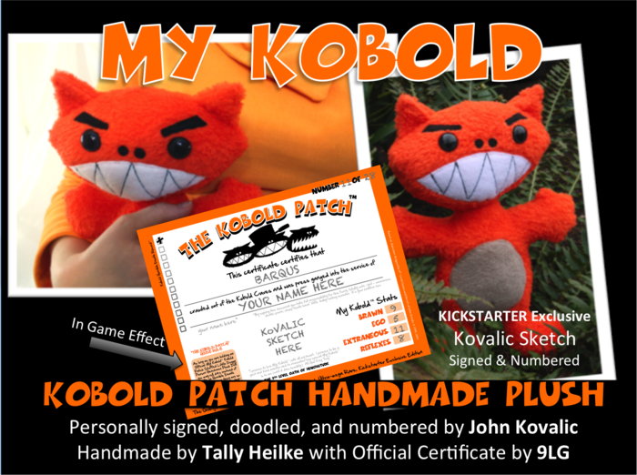 MY KOBOLD - Kobold Patch Handmade Plush