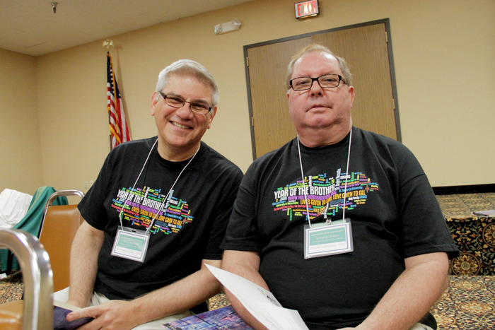 Brothers Paul Bednarczyk and Harold Hathaway, during the Chapter of 2012