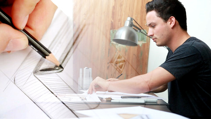 Our lead designer, Matteo Padovani, hard at work. Check out more of his work at www.padovanidesigns.com