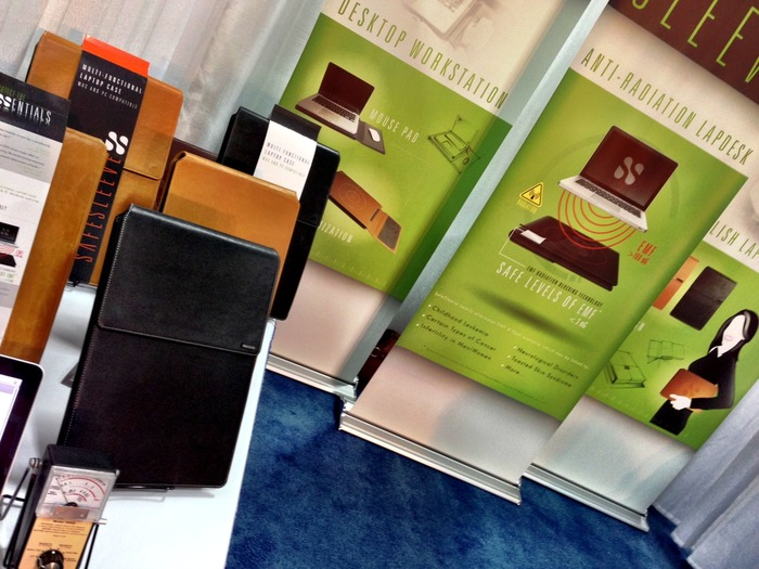 We showed off some prototypes at our booth at the Travel Goods Show 2013 in Las Vegas