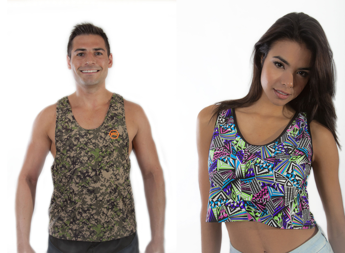 """Digital Camo"" w/ Matching Trim (Left) ""Geometric Neon"" w/ Black Trim (Right)"