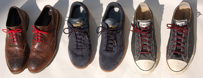 Transform your shoes with Red Hand shoelaces
