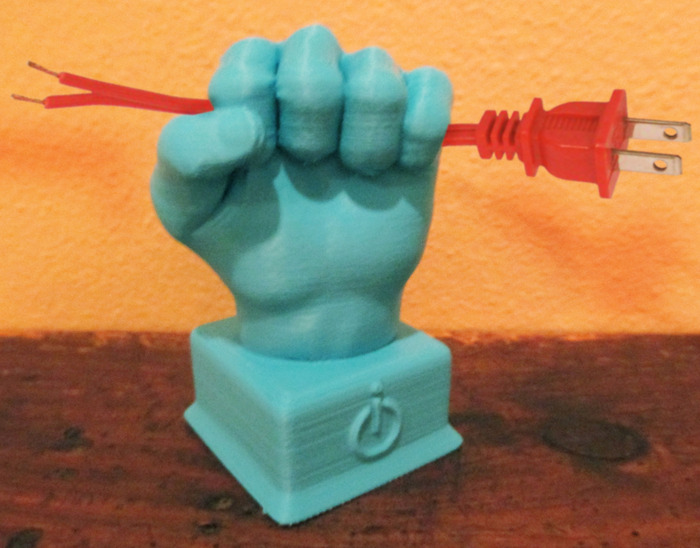 Reward 4 - Infinity Cell 3D Printed Freedom Fist