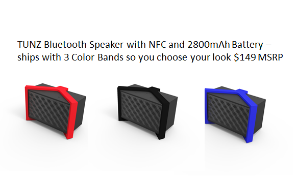 BONUS TYLT TUNZ Bluetooth Speaker with $249 Pledge