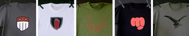 The original line of Red Hand t-shirts still available at redhand.us