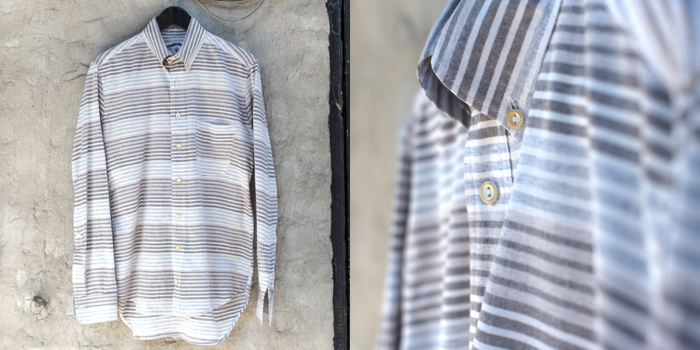Horizontal Striped Button Down