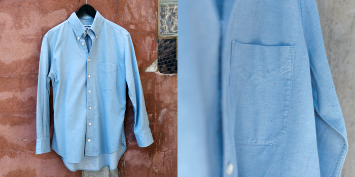 Blue Color Fleck Button Down