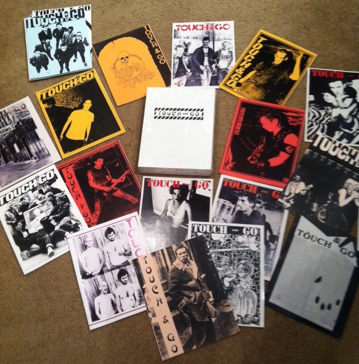 Sealed Presspop edition with zines displayed for photo purposes