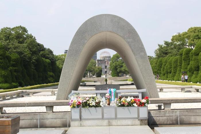 from my sobering trip to Hiroshima Peace park (site of first atom bomb explosion during war)
