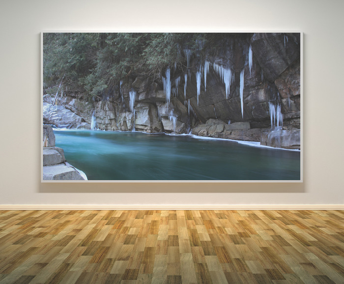 "Stunning 10x20"" signed canvas print gallery wrap ""Cascade Giants"" original landscape of your choice."