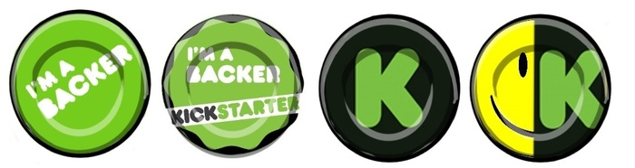 Special One-Off 'I backed HappiJar' Kickstarter HappiButtons