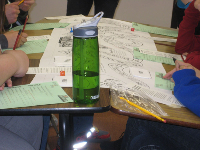 Students playing the concept game