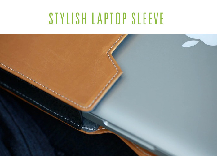 A high quality, sleek and stylish sleeve that will fit and protect most laptops