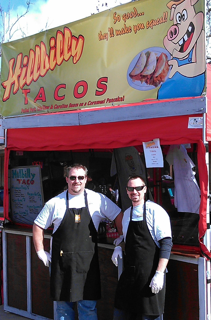 Rich & Dean at the Hillbilly Taco Booth